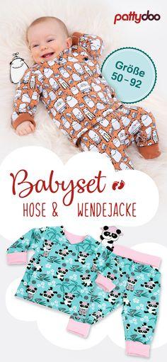 Babyset: bestehend aus Pumphose und Wickeljacke (Gr.50-92) -> Mit Videos zum garantierten Gelingen