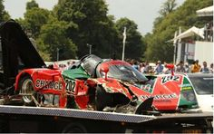 1989 Mazda 767B Le Mans racer crashes at the 2015 Goodwood Festival of Speed
