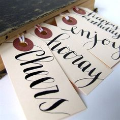 7 everyday gift tags // small Manila shipping by KisforCalligraphy