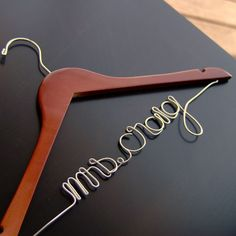 """Mrs."" Custom Script Bridal Hangers (Available in 5 Colors)"