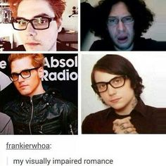 they all tilt their head a little majestically with their black rimmed glasses and then there's ray #theonetimeraywasntthematureone