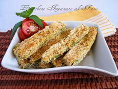 Zucchine impanate al forno ricetta sfiziosa