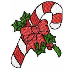 Free Embroidery Design: Candy Cane - I Sew Free
