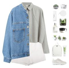 """""""grey and white"""" by f-resh ❤ liked on Polyvore featuring Diane Von Furstenberg, WithChic, adidas, ASOS, Dot & Bo, Dermalogica, CB2, Le Labo, NARS Cosmetics and Diptyque"""