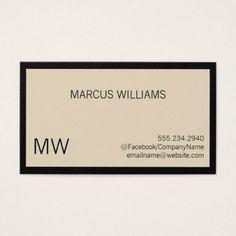 Ceo signature series business card minimalist office modern sophisticated beige border business card minimalist office gifts personalize office cyo custom colourmoves