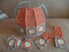 15 Crochet Lampshades To Light Into Your Home – Knitting And Crochet Crochet Squares, Crochet Granny, Crochet Motif, Diy Crochet, Crochet Designs, Crochet Crafts, Yarn Crafts, Crochet Projects, Crochet Patterns