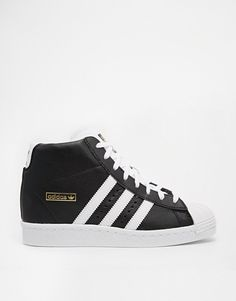 adidas Originals Superstar 38 NEU schwarz ❤ Echt Leder Sneaker Wedges Keilabsatz in Kleidung & Accessoires, Damenschuhe, Turnschuhe & Sneaker | eBay