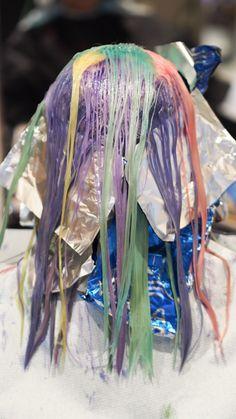 Rainbow hair in the making - Saara Sarvas | Lily.fi