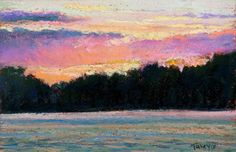 Hudson River Sunset by Takeyce Walter  Private collection, Saratoga Springs NY