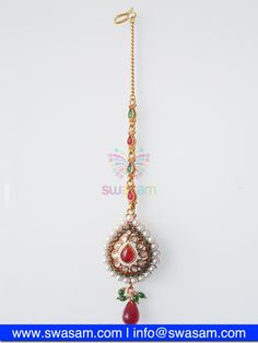 Indian Jewelry Store | Swasam.com: Tikka with Perls and White Stones - Tikka - Jewelry Shop to Buy The Best Indian Jewelry  http://www.swasam.com/jewelry/tikka/tikka-with-perls-and-white-stones-1448.html?___SID=U  #indianjewelry #indian #jewelry #tikka