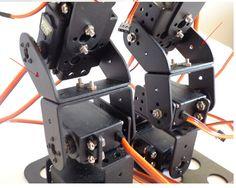 F17327 17DOF Biped Robotic Educational Robot Humanoid Robot Kit Servo Bracket with Remote Controller