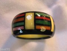 Handsome Bakelite and Polyurethane Bracelet by Brad Elfrink.