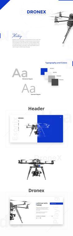DRONEX- Single Product (DRONE) Landing Page Design on Behance