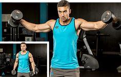 Build Monster Shoulders With This Brutal Giant Set Finisher Shoulder Workout Routine, Best Shoulder Workout, Shoulder Training, Shoulder Gym, Shoulder Muscles, Shoulder Exercises, Best Dumbbell Exercises, Dumbbell Workout, Deltoid Workout