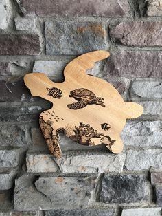 Wood burn of a sea turtle. #woodburn #pyrography #ocean #seaturtle