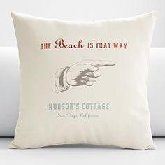 red envelope - beach pillow