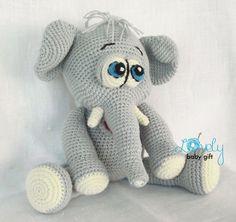 Elefant-Häkelanleitung Amigurumi Elefant von LovelyBabyGift auf Etsy