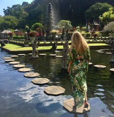 Tirta Gangga, a beautiful Water Palace in Karangasem, #Bali, #Indonesia Photo by: IG @pollina.alekseevna