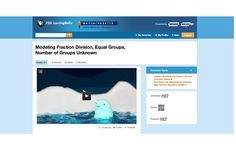 Modeling Fraction Division, Equal Groups, Number of Groups Unknown - In this animated video, a visual model is shown for solving a word problem involving the division of fractions. The problem asks students to determine how many equal-sized narwhals are within a whole pod. Then, students work through a similar but more difficult problem with the help of bar models and other visual representations. #Math #MathGames #MiddleSchool #CommonCore