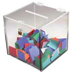 This deluxe acrylic ballot box is perfect for retail locations. Host tons of contest and promotions using the deluxe acrylic ballot box!