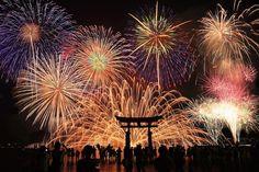 Calendário de todos os festivais de Fogos de Artifício (Hanabi Taikai) no Japão