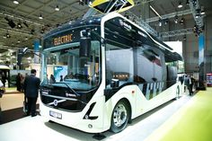 The new electric bus by Volvo shown at the UITP 2015 in Milan.