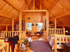 Affordable Luxury Log Home Gallery : Featured Interiors