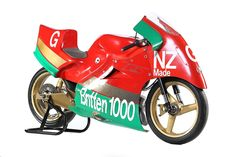 John Britten's 1987 Britten Aero-D-One. Displayed daily at Classic Motorcycle Mecca. For more information visit transportworld.nz