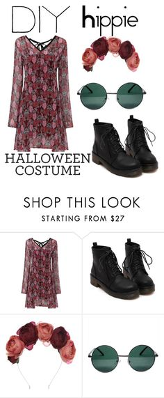 """DIY Halloween Costume - Hippie ♥"" by jovanaa-bogdanovic ❤ liked on Polyvore featuring Crown and Glory and YHF"
