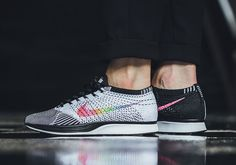 The Nike BE TRUE collection is back for 2017, and arguably better than ever with the addition of the rainbow-soled VaporMax and this colorful new edition of the Flyknit Racer. With the classic black and white Flyknit weave at its … Continue reading →