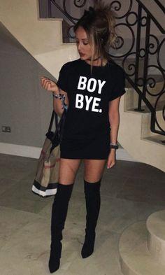 BOY BYE T-shirt Dress