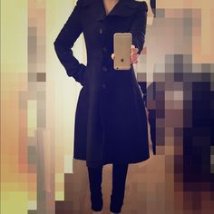 D&G Wool Coat 100% authentic Dolce & Gabbana wool coat. Only wore a few times and still looks new. Very sexy silhouette, great for the winter season coming up! It's European size 40, which is US size 0-2. Dolce & Gabbana Jackets & Coats