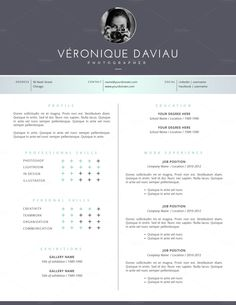 3 Page Resume Template for Word by Botanica Paperie on @creativemarket