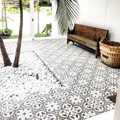 Best Ideas For Modern House Design & Architecture : – Picture : – Description Tile inspo, Jatana Interiors …. Patio Tiles, Outdoor Tiles, Outdoor Flooring, Outdoor Rooms, Outdoor Living, Terrace Tiles, Balcony Tiles, Garden Tiles, Garden Floor