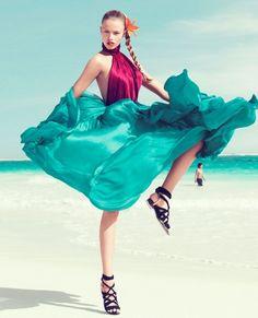 fashion - green - dress