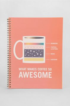 What Makes My Coffee Awesome Spiral Notebook