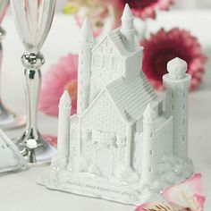 Add this dreamy Happily Ever After styled Castle Wedding Cake Topper worthy of any Princess Bride to your Disney Cinderella Princess themed wedding.