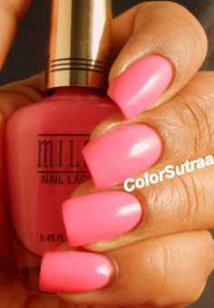 MILANI Spring 2014 collection : Swatches and Review (PART I) Popping Pink
