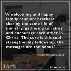 'A welcoming and happy family reunion...' Bill VanDoodewaard  #bannerconf