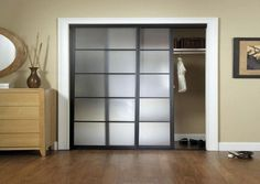 Frosted glass interior french doors 5 panel privacy glass for Alternative closet door ideas