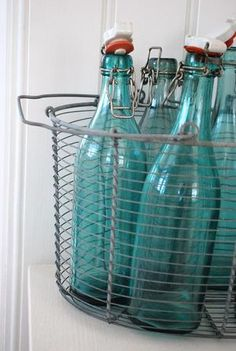 turquoise...i have 10 of these clear beverage blt.'s ~ get a tasty beverage or punch recipe & fill 4 Father's Day!