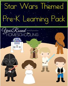 Free Star Wars Themed Pre-K Learning Pack - http://www.yearroundhomeschooling.com/free-star-wars-themed-pre-k-learning-pack/