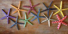 Creatives manualitats amb agulles d'estendre de fusta - tot nens
