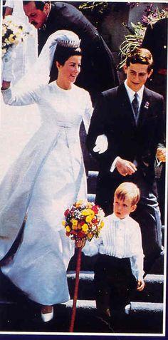 Fürst Hans-Adam von und zu Liechtenstein (*1945) got engaged to Countess Marie Kinsky von Wichinitz (*1940), on April 16th 1966