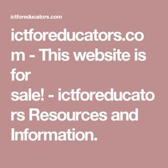 ictforeducators.com-This website is for sale!-ictforeducators Resources and Information.
