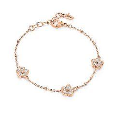 Ernest Jones - Folli Follie Fiorissimo rose gold-plated crystal bracelet