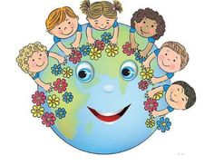 Illustration about Children hugging planet Earth. Contains transparent objects. Illustration of flower, couple, braids - 40648701 Happy Children's Day, Happy Kids, First Day Of School, Pre School, Earth Day Crafts, School Murals, Save Our Earth, School Decorations, Child Day