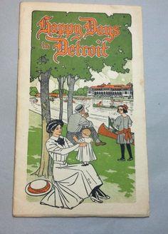 Vintage Michigan tourist brochure -- Detroit, dated 1910