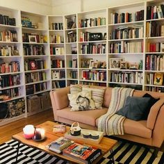 Home Library Rooms, Home Library Design, Home Libraries, House Rooms, Home Interior Design, House Design, Bookshelf Inspiration, Dream Decor, Cozy House