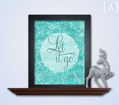 Let It Go Wall Art  Turquoise Bokeh Printable by MyAugustLoves, $5.00